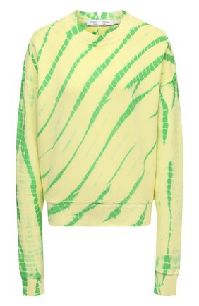 Женский хлопковый свитшот PROENZA SCHOULER WHITE LABEL светло-зеленого цвета, арт. WL2114144-JCT138 | Фото 1