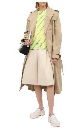Женский хлопковый свитшот PROENZA SCHOULER WHITE LABEL светло-зеленого цвета, арт. WL2114144-JCT138 | Фото 2