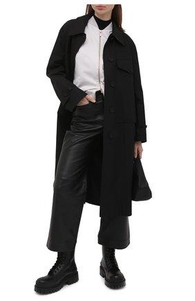 Женский хлопковая толстовка LORENA ANTONIAZZI светло-серого цвета, арт. P2141FE003/3187 | Фото 2