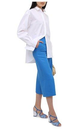 Женские кожаные босоножки calella LORO PIANA синего цвета, арт. FAL5967 | Фото 2