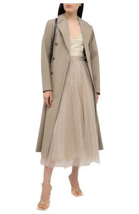 Женская юбка BRUNELLO CUCINELLI светло-бежевого цвета, арт. MA960G3054 | Фото 2