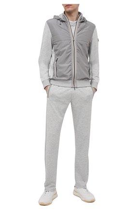 Мужские брюки BOGNER светло-серого цвета, арт. 18783928 | Фото 2 (Длина (брюки, джинсы): Стандартные; Материал внешний: Вискоза, Синтетический материал; Кросс-КТ: Спорт; Мужское Кросс-КТ: Брюки-трикотаж; Стили: Спорт-шик)