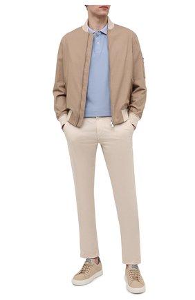 Мужское хлопковое поло BOGNER голубого цвета, арт. 58186548 | Фото 2