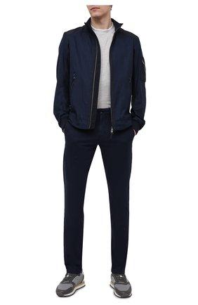Мужские хлопковые брюки BOGNER темно-синего цвета, арт. 18053320 | Фото 2