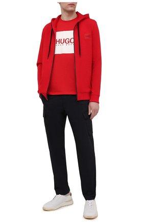 Мужской хлопковая толстовка HUGO красного цвета, арт. 50447972 | Фото 2