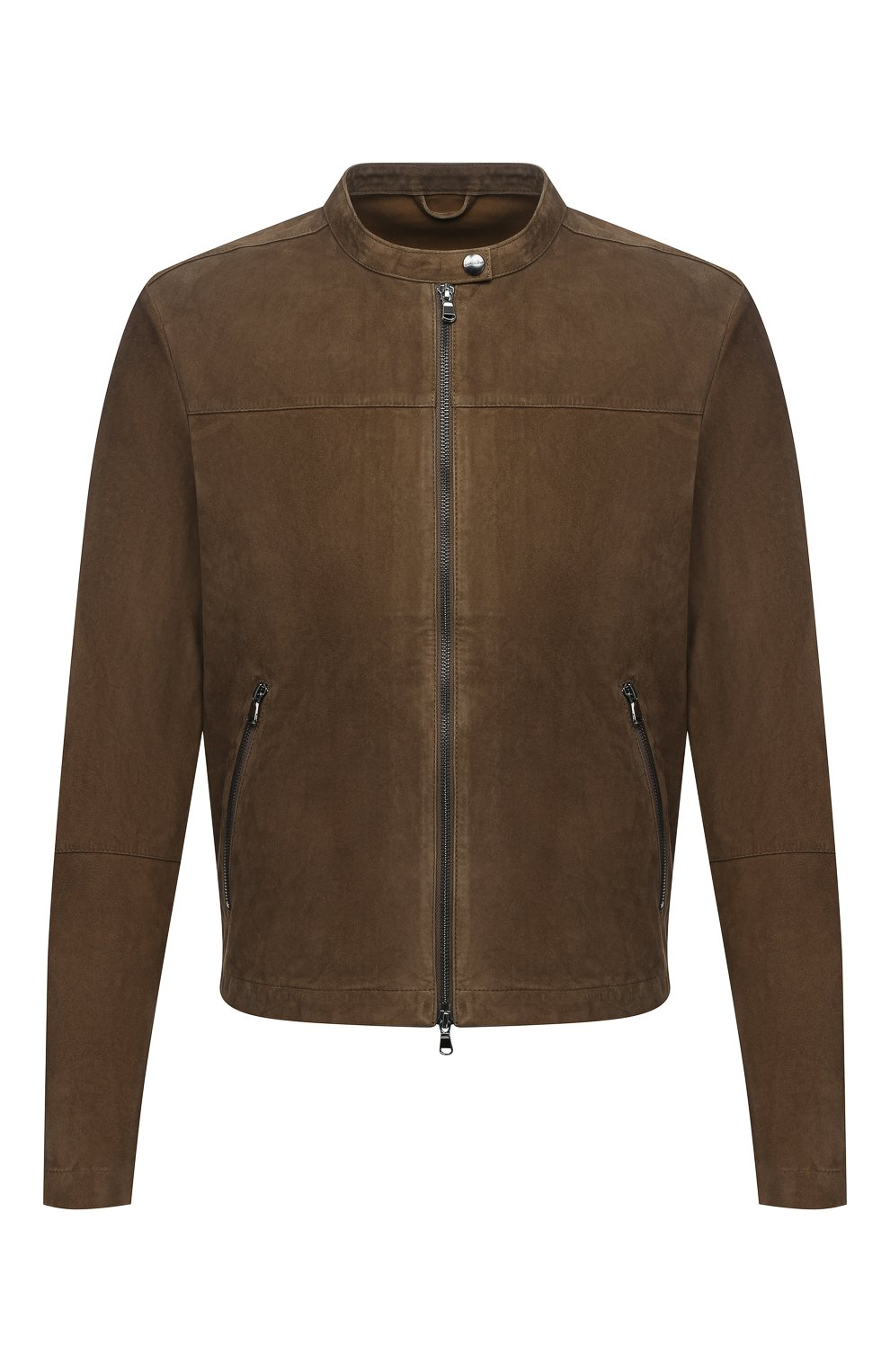 Мужская замшевая куртка GIORGIO BRATO коричневого цвета, арт. GU21S9451G0SU   Фото 1 (Кросс-КТ: Куртка; Материал внешний: Замша; Рукава: Длинные; Мужское Кросс-КТ: Кожа и замша; Длина (верхняя одежда): Короткие; Стили: Кэжуэл)