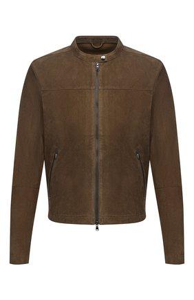 Мужская замшевая куртка GIORGIO BRATO коричневого цвета, арт. GU21S9451G0SU | Фото 1