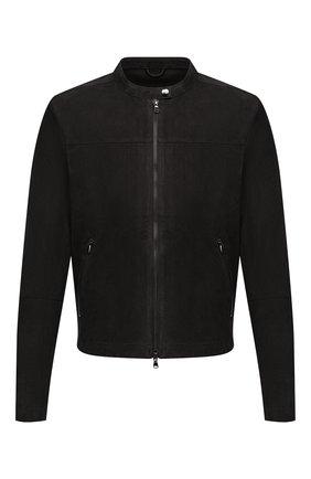 Мужская замшевая куртка GIORGIO BRATO черного цвета, арт. GU21S9451G0SU | Фото 1