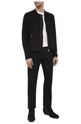 Мужская замшевая куртка GIORGIO BRATO черного цвета, арт. GU21S9451G0SU | Фото 2