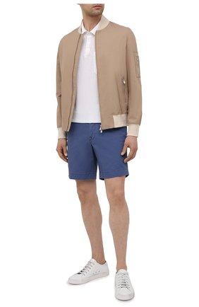 Мужские хлопковые шорты POLO RALPH LAUREN синего цвета, арт. 710799213 | Фото 2