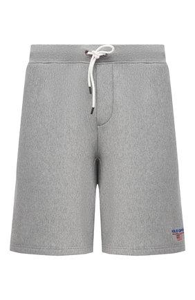 Мужские хлопковые шорты POLO RALPH LAUREN серого цвета, арт. 711835477/PRL BS | Фото 1