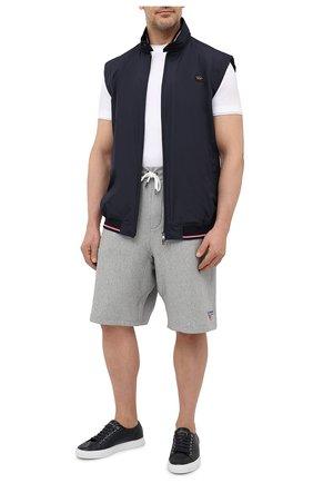 Мужские хлопковые шорты POLO RALPH LAUREN серого цвета, арт. 711835477/PRL BS | Фото 2