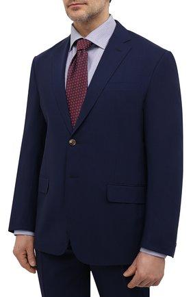 Мужской шерстяной костюм LUCIANO BARBERA темно-синего цвета, арт. 5M2014/25044/58-62 | Фото 2