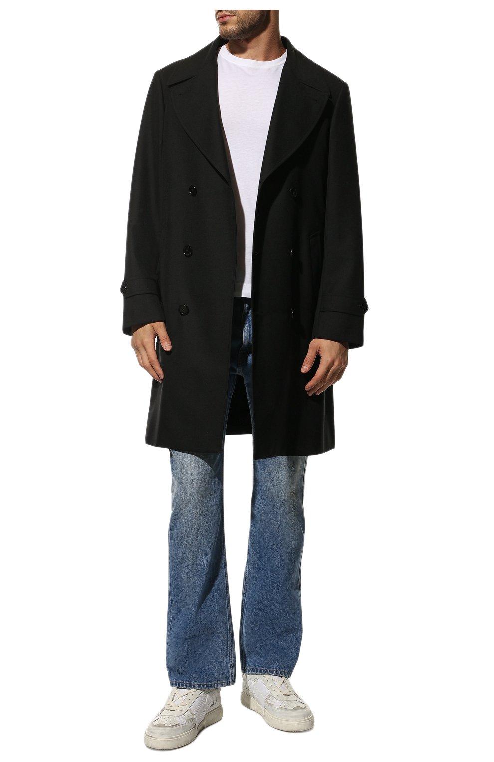 Мужские кожаные кеды vl7n VALENTINO белого цвета, арт. VY0S0C58/JTV | Фото 2 (Материал внутренний: Текстиль; Подошва: Массивная)