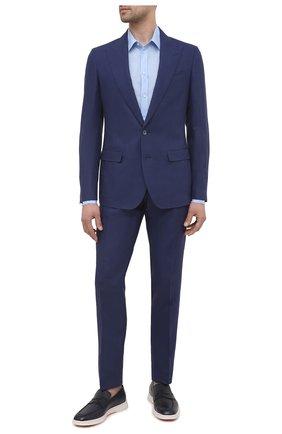 Мужской льняной костюм DOLCE & GABBANA темно-синего цвета, арт. GKC3MT/FU4JB | Фото 1