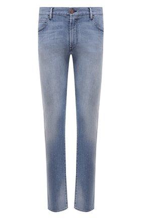 Мужские джинсы GIORGIO ARMANI голубого цвета, арт. 3KSJ15/SD0KZ   Фото 1