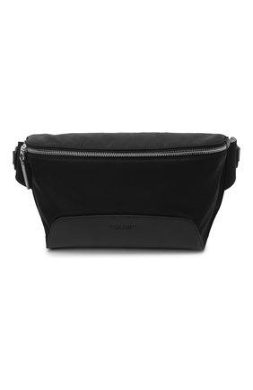 Мужская текстильная поясная сумка RALPH LAUREN черного цвета, арт. 437831108 | Фото 1