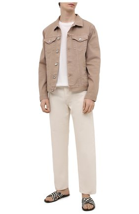 Мужские кожаные шлепанцы RALPH LAUREN коричневого цвета, арт. 815838175 | Фото 2