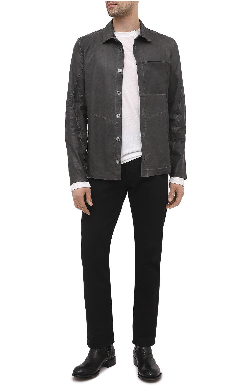 Мужские кожаные сапоги ROCCO P. черного цвета, арт. 12031/UNIVERSAL   Фото 2