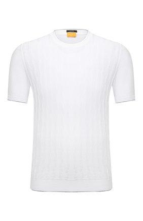 Мужской хлопковый джемпер SVEVO белого цвета, арт. 82165SE21/MP0002 | Фото 1
