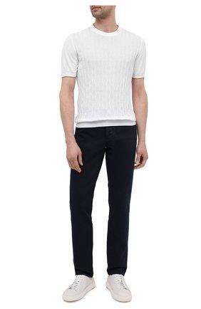 Мужской хлопковый джемпер SVEVO белого цвета, арт. 82165SE21/MP0002 | Фото 2