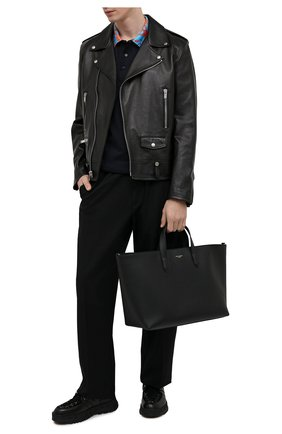 Мужская кожаная сумка-тоут monreale DOLCE & GABBANA черного цвета, арт. BM1749/AC954 | Фото 2