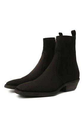 Мужские замшевые казаки PREMIATA черного цвета, арт. 31852/YANKEE B. | Фото 1 (Материал внутренний: Натуральная кожа; Каблук высота: Высокий; Подошва: Плоская; Мужское Кросс-КТ: Казаки-обувь, Сапоги-обувь; Материал внешний: Замша)