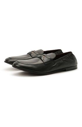 Мужские кожаные лоферы layered dna DOLCE & GABBANA черного цвета, арт. A50435/AW593 | Фото 1 (Материал внутренний: Натуральная кожа; Мужское Кросс-КТ: Лоферы-обувь; Стили: Кэжуэл)