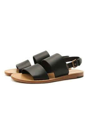 Мужские кожаные сандалии pantheon DOLCE & GABBANA черного цвета, арт. A80224/AV385 | Фото 1 (Материал внутренний: Натуральная кожа)
