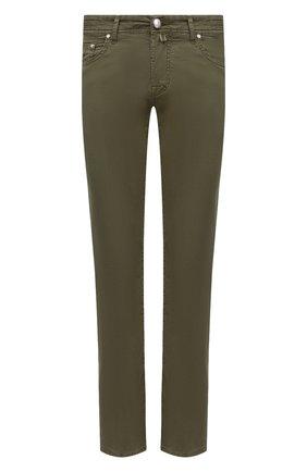 Мужские джинсы JACOB COHEN хаки цвета, арт. J620 C0MF 06510-V/55 | Фото 1