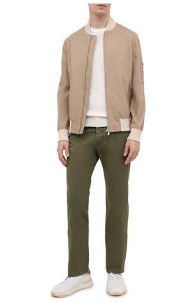 Мужские джинсы JACOB COHEN хаки цвета, арт. J620 C0MF 06510-V/55 | Фото 2