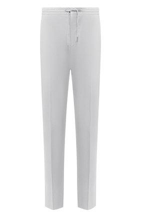 Мужские хлопковые брюки ERMENEGILDO ZEGNA серого цвета, арт. UUI16/TT13 | Фото 1