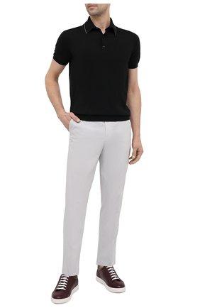 Мужские хлопковые брюки ERMENEGILDO ZEGNA серого цвета, арт. UUI16/TT13 | Фото 2