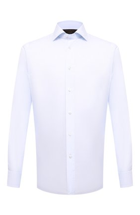 Мужская хлопковая сорочка ZEGNA COUTURE светло-голубого цвета, арт. 902003/9NS0LB   Фото 1