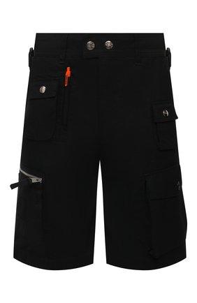 Мужские хлопковые шорты DIESEL черного цвета, арт. A02341/0KBAA | Фото 1
