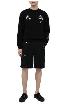 Мужские хлопковые шорты DIESEL черного цвета, арт. A02341/0KBAA | Фото 2