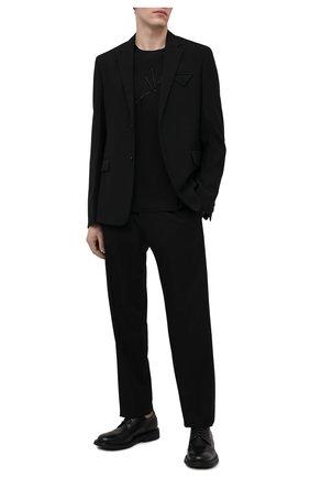 Мужская хлопковая футболка VERSACE черного цвета, арт. A89308/A228806 | Фото 2