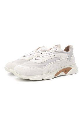 Мужские комбинированные кроссовки MOMA белого цвета, арт. 4AS130-ML | Фото 1