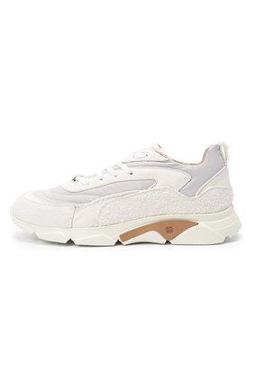 Мужские комбинированные кроссовки MOMA белого цвета, арт. 4AS130-ML   Фото 3 (Материал внешний: Текстиль; Материал внутренний: Натуральная кожа; Стили: Гранж; Подошва: Массивная)
