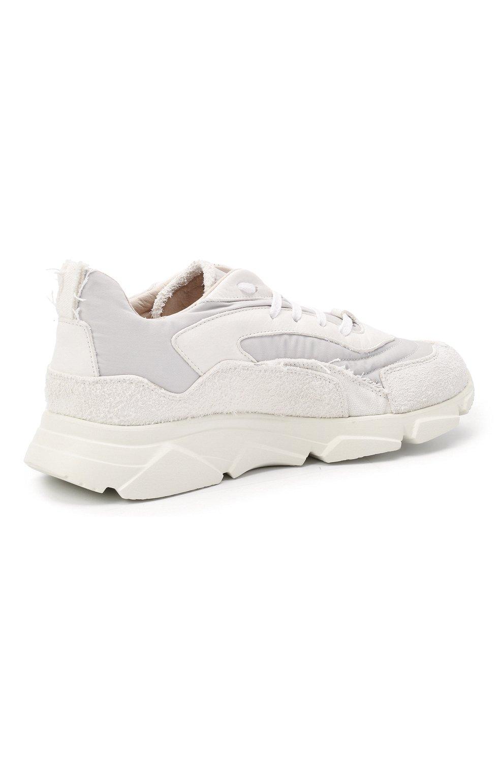 Мужские комбинированные кроссовки MOMA белого цвета, арт. 4AS130-ML   Фото 4 (Материал внешний: Текстиль; Материал внутренний: Натуральная кожа; Стили: Гранж; Подошва: Массивная)
