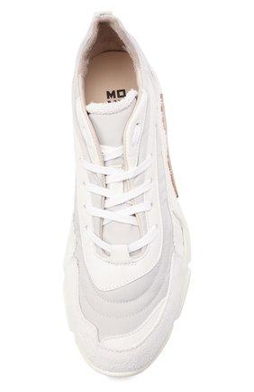 Мужские комбинированные кроссовки MOMA белого цвета, арт. 4AS130-ML   Фото 5 (Материал внешний: Текстиль; Материал внутренний: Натуральная кожа; Стили: Гранж; Подошва: Массивная)