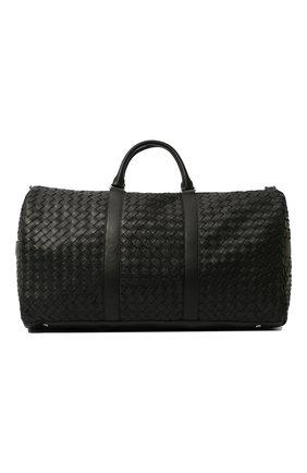 Мужская кожаная дорожная сумка BOTTEGA VENETA черного цвета, арт. 650061/V0E51 | Фото 1