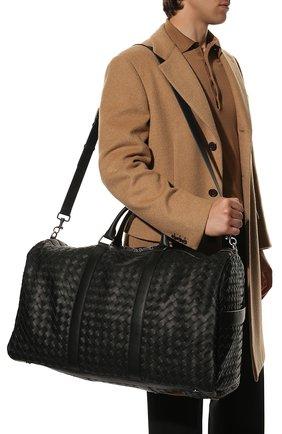 Мужская кожаная дорожная сумка BOTTEGA VENETA черного цвета, арт. 650061/V0E51 | Фото 2