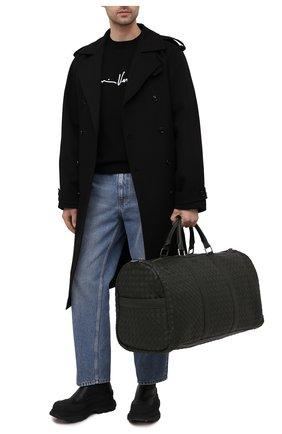 Мужская кожаная дорожная сумка BOTTEGA VENETA темно-зеленого цвета, арт. 650061/V0E51 | Фото 2