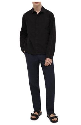 Мужские кожаные шлепанцы OFFICINE CREATIVE черного цвета, арт. AG0RA`/002/SPALLA PIUMA | Фото 2