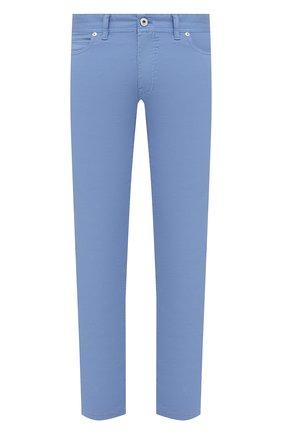 Мужские хлопковые брюки BRIONI голубого цвета, арт. SPPB0M/P8T01/MERIBEL | Фото 1