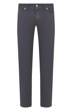 Мужские хлопковые брюки BRIONI серого цвета, арт. SPPB0M/P8T01/MERIBEL | Фото 1 (Материал внешний: Хлопок; Длина (брюки, джинсы): Стандартные; Случай: Повседневный; Стили: Кэжуэл)