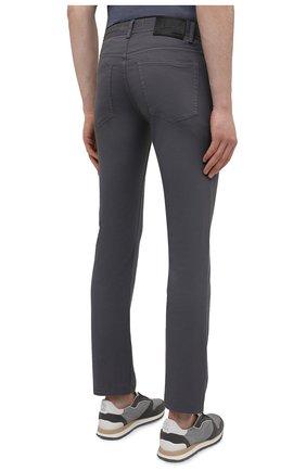 Мужские хлопковые брюки BRIONI серого цвета, арт. SPPB0M/P8T01/MERIBEL   Фото 4