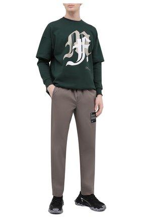 Мужские хлопковые брюки TEE LIBRARY бежевого цвета, арт. TSK-PT-46 | Фото 2