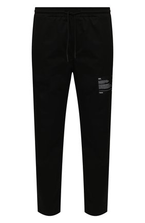 Мужские хлопковые брюки TEE LIBRARY черного цвета, арт. TSK-PT-47 | Фото 1